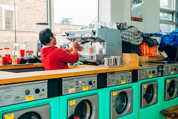 Lavandería con Aroma a Café